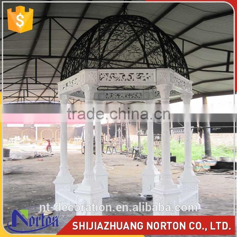 landscape large hand made alibaba outdoor metal canopy NTIG-018Y