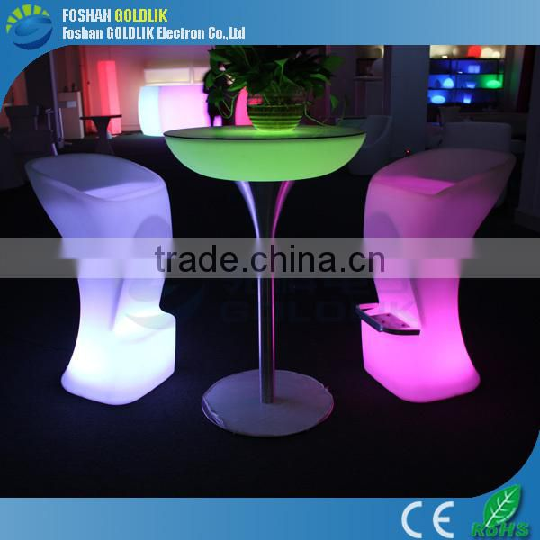 2014 Modern led coffee table/plastic furniture GKL-104SK