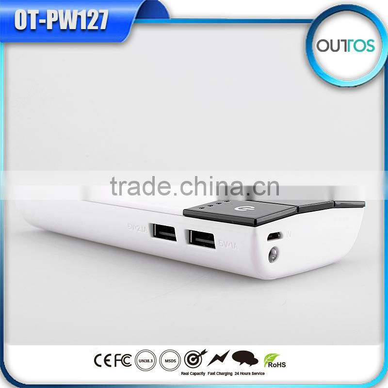 Manufacture piano shape 10000mah power bank with dual usb
