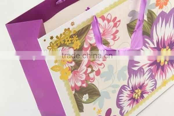 Flower Design Foldable Gift Bag / Shopping Paper Bag