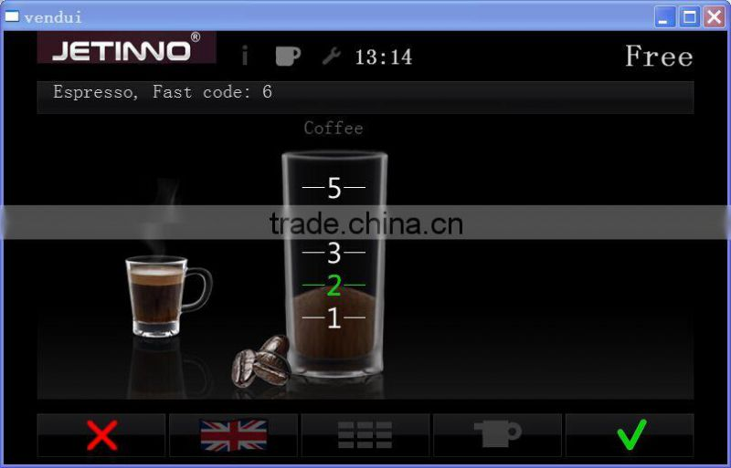 ESFB8C free stand bean to cup espresso coffee vending machine
