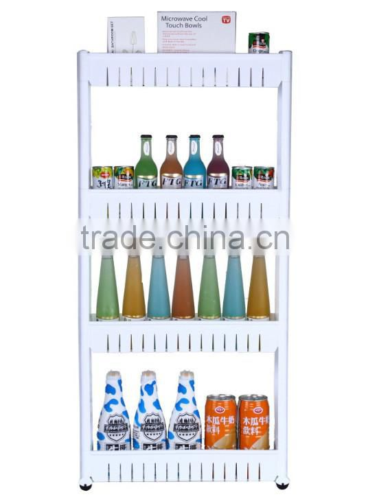 New Arrival High Quality Plastic Storage Shelf 4 layer storage shelves