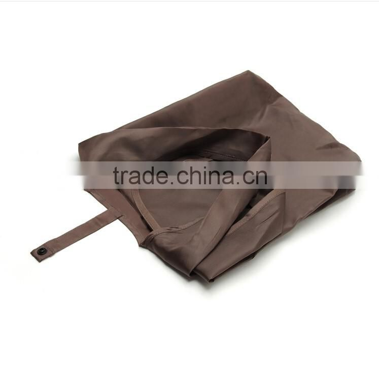 fashion recycled coffee colour foldable polyester tote bag