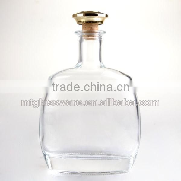24oz high-grade whiskey decanter with lid crystla wine glass bottle