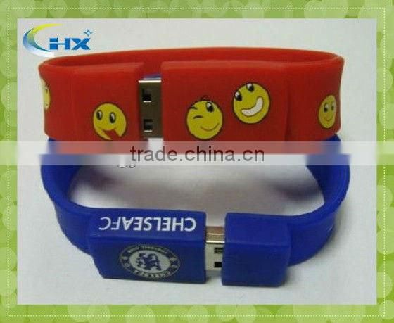 8GB capacity popular personalized cute logos usb flash band