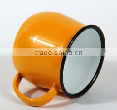 china promation customized enamel mug & personalized enamel camping mug