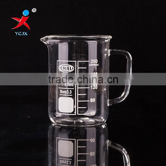 200ml Glass Beaker/ Customized Capacity Glass Beaker/ Logo Printed Glass beaker