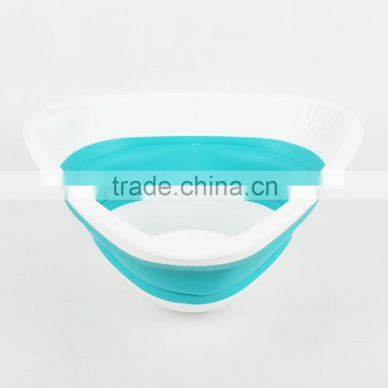 Factory directly supply custom design food grade plastic Collapsible Strainer