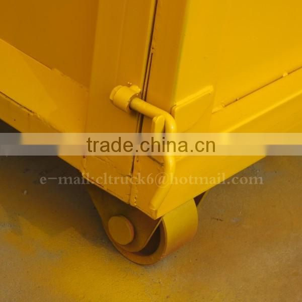Carbon steel Trapezoid Trash bucket 16 m3 for Hook arm garbage truck