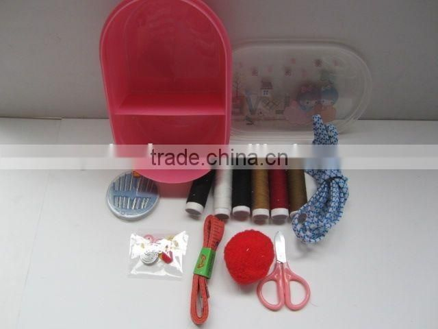 hotel professional plastic sewing kit box for home