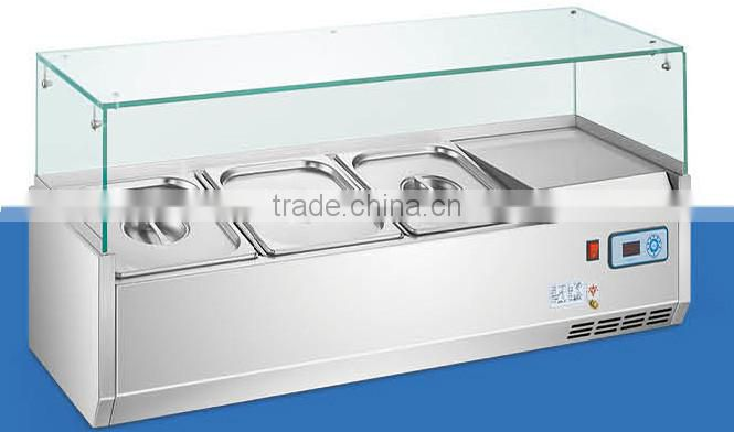 Commercial Staless Steel Refrigerated Counter Top Salad Bar For Hotel(ZQR-1200)