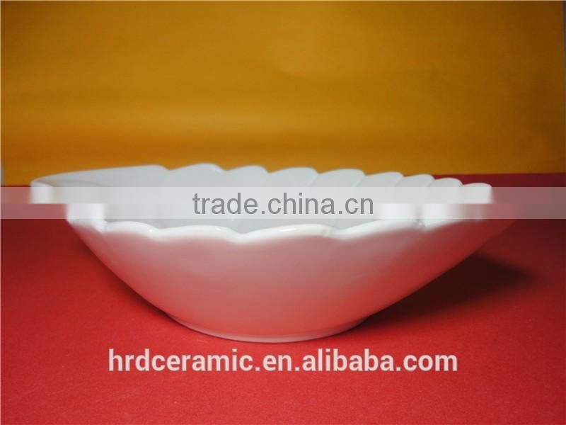 Stocked wholesale 24.3*16.8*5.8cm decorative leaf shape bowl