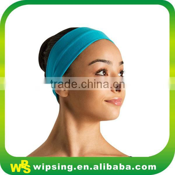 Custom logo embroidery towelling stretch headband