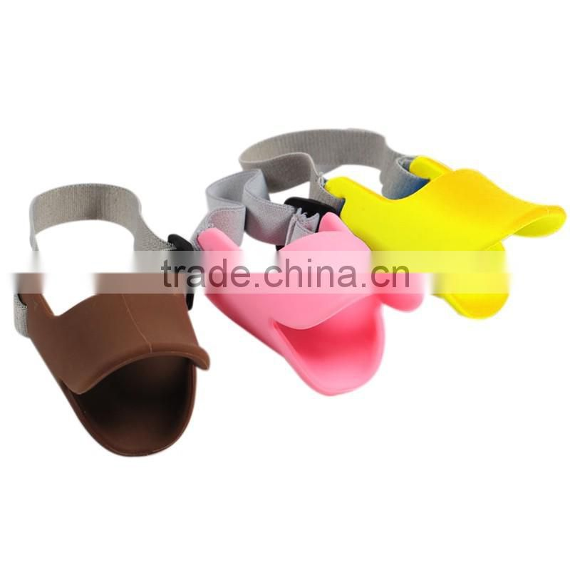 Pet training product silicone duckbill cover prevent barkand bite Toe clip