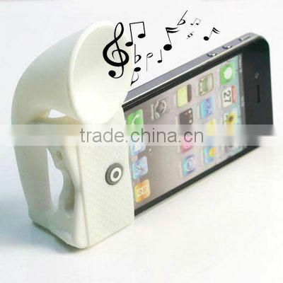 silicone sound amplifier or loud speaker