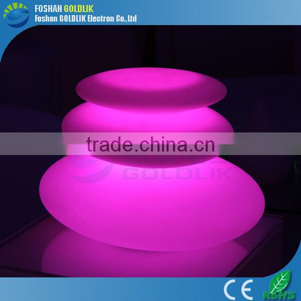 Restaurant Decoration Theme Style RGB Color LED Portable Table Lamp