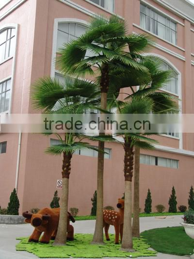 Home garden edging decorative 5ft to 16ft Height outdoor fake green plastic palm trees EDS06 0832