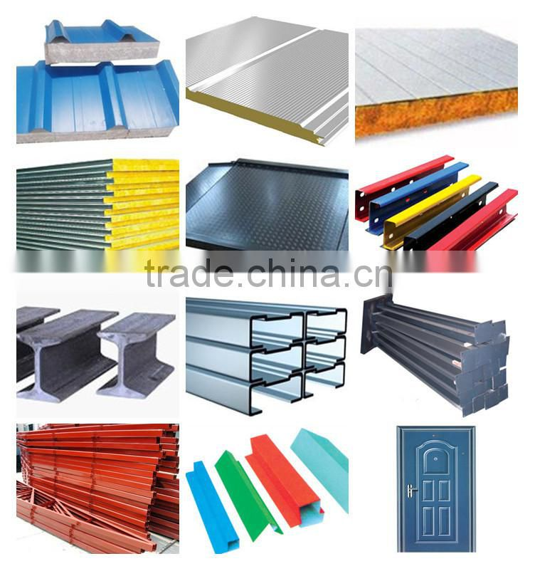 Light metal roofing warehouse prefabricated steel roof frame