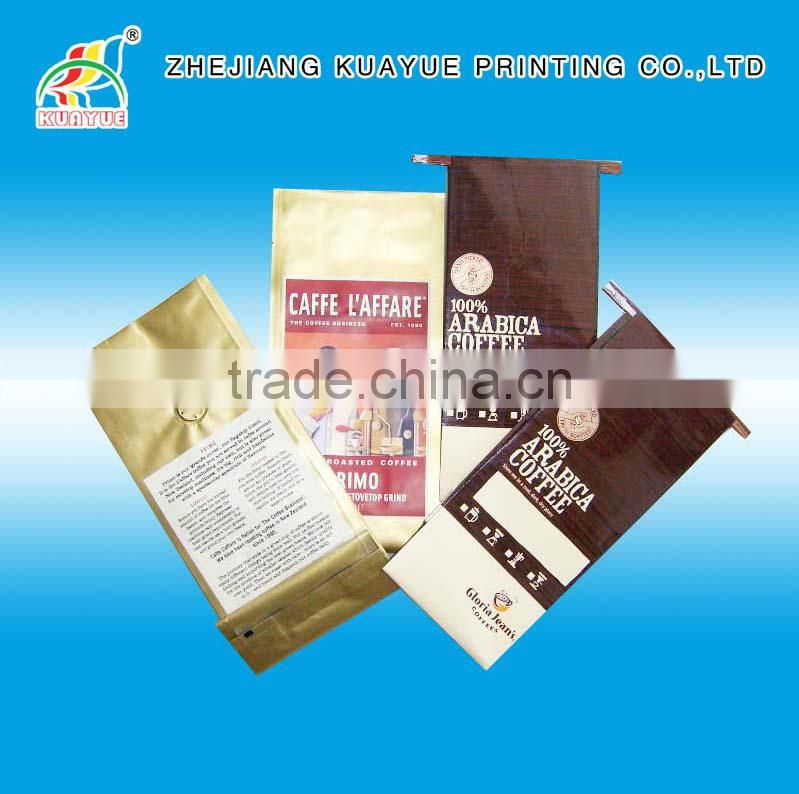 Customized Durale Valved Coffee Bag, Coffee Packaging Bags --- Top Ten Products!!