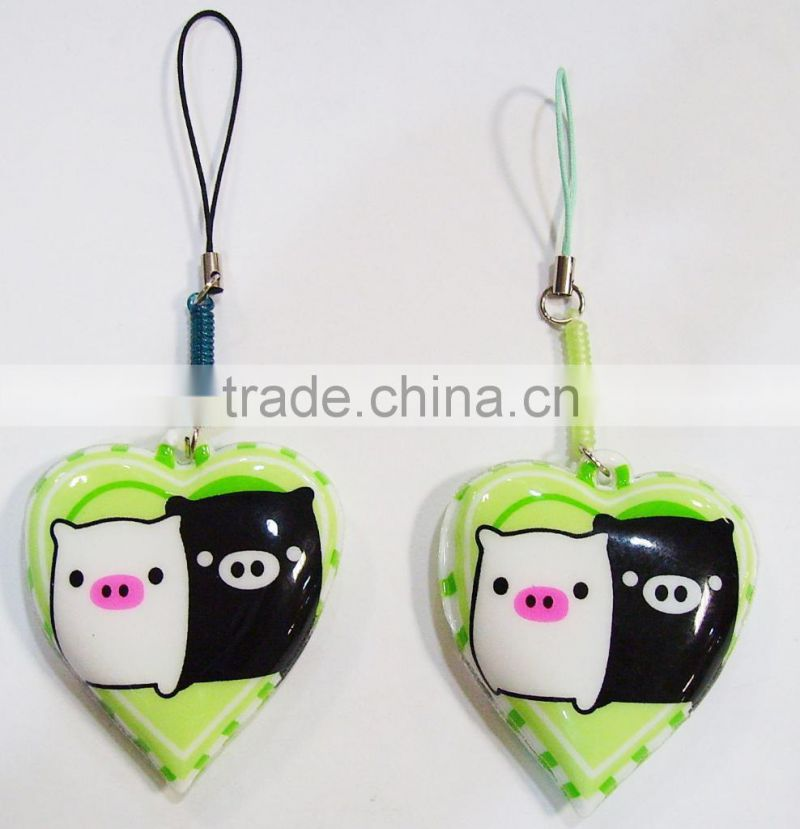 Soft PVC Mobile Phone Strap with Screen Wiper and Cleaner