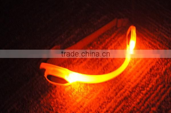 LED HIGH VISIBILITY SAFETY ARMBAND;flashing led armband for jogging ;safety lighted armband