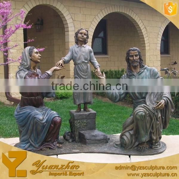 church life size polyresin religious Virgin Mary and Jesus sculpture