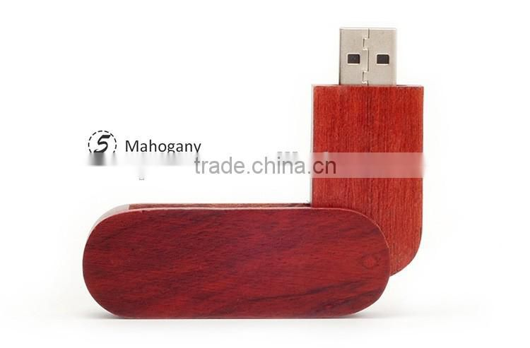 Newest present wooden box bulk general u-disk pen usb flash drive