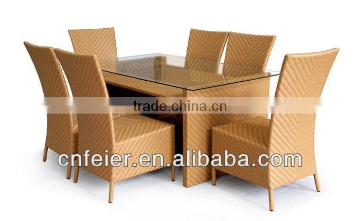 A6007CH Outdoor Rattan Furniture Outdoor Wrought Iron Table