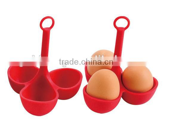 Newly 3 cups FDA 100% food grade silicone egg cooker