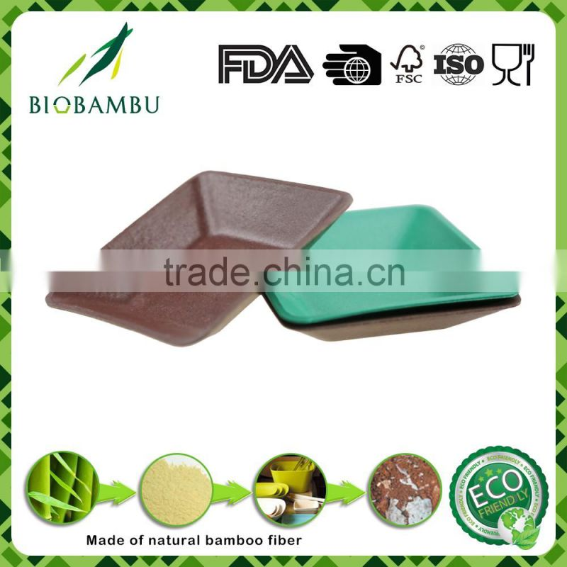 Serviceable Unique OEM available bamboo fiber snacks/nibbles plate