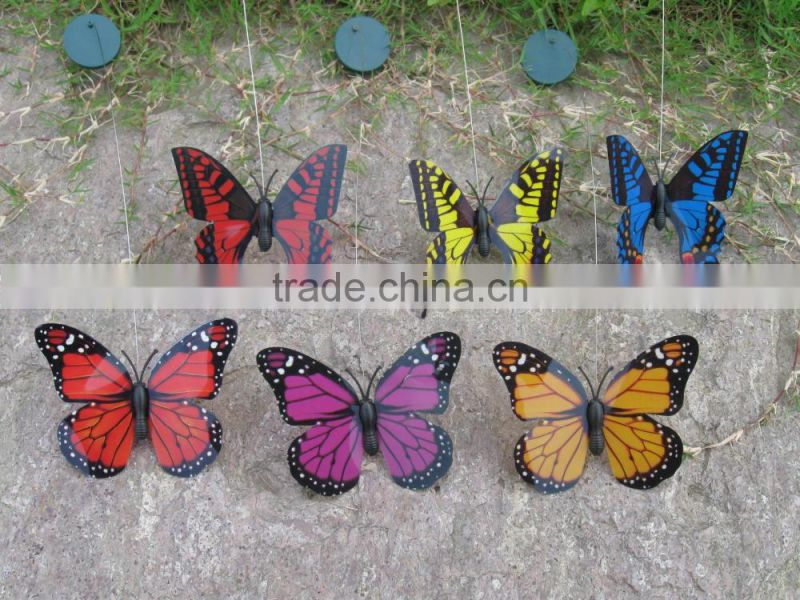 solar butterfly Solar and Battery Powered Fluttering butterfly solar fluttering buftterfly flying butterfly