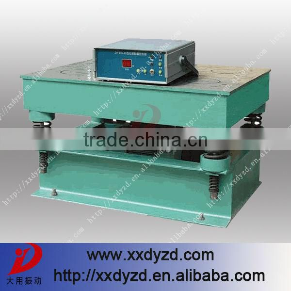 High quality vibrating table design with ISO standard
