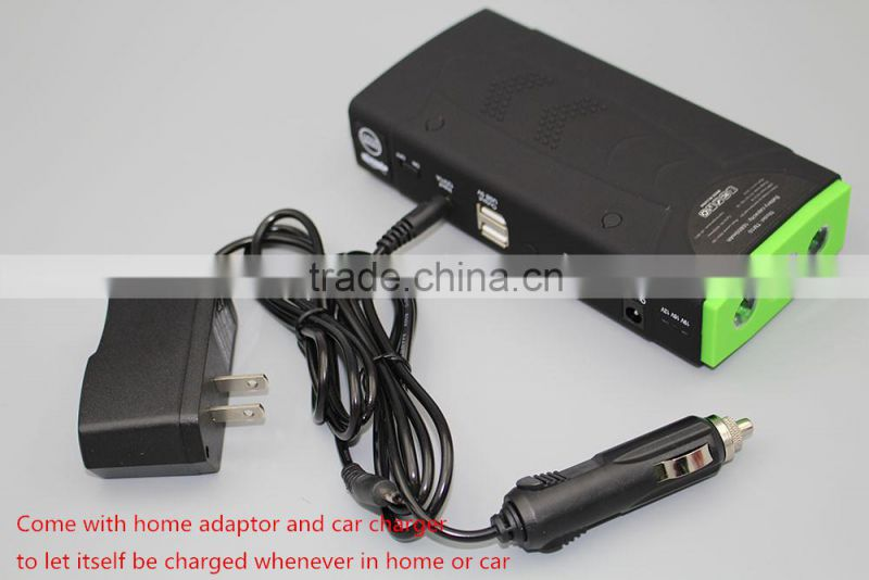 Emergency car portable battery jump starter, 12000mah car jump starter power bank