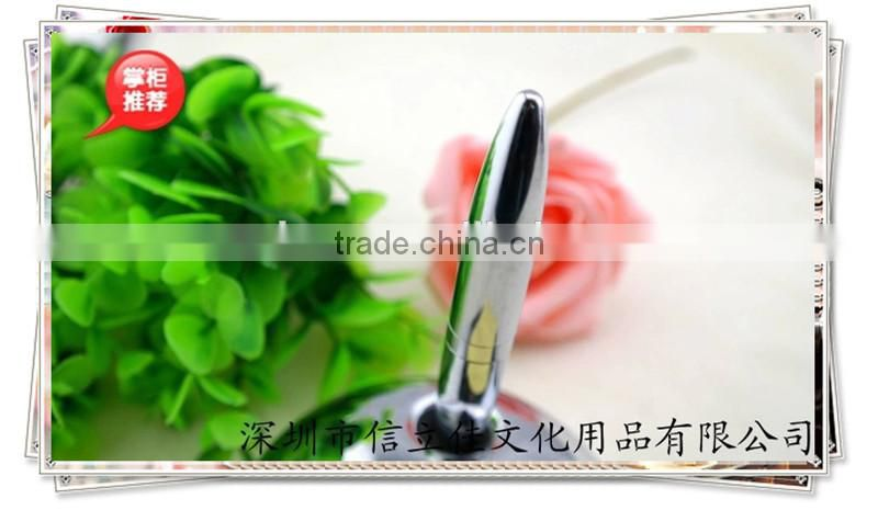 TT-03 cheap table pen with Round holder, fat desk pen for bank use