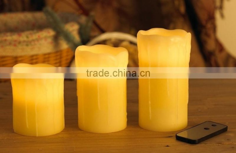 led santa candle flameless led wax candle for Christmas decoration Christmas santa candle flameless flicking candle for Christma