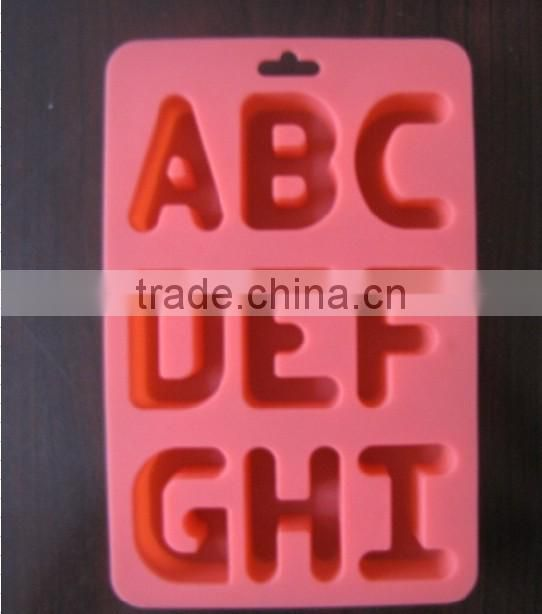 Wholesale food grade letter silicone ice tray
