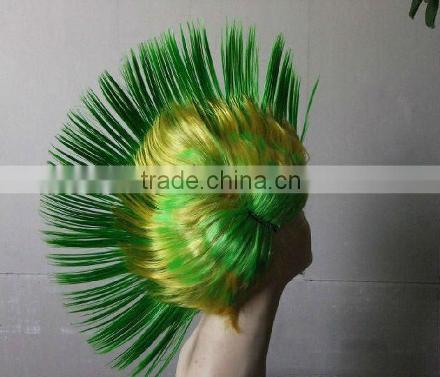 cheap mix color cool football wigs sports fan wigs