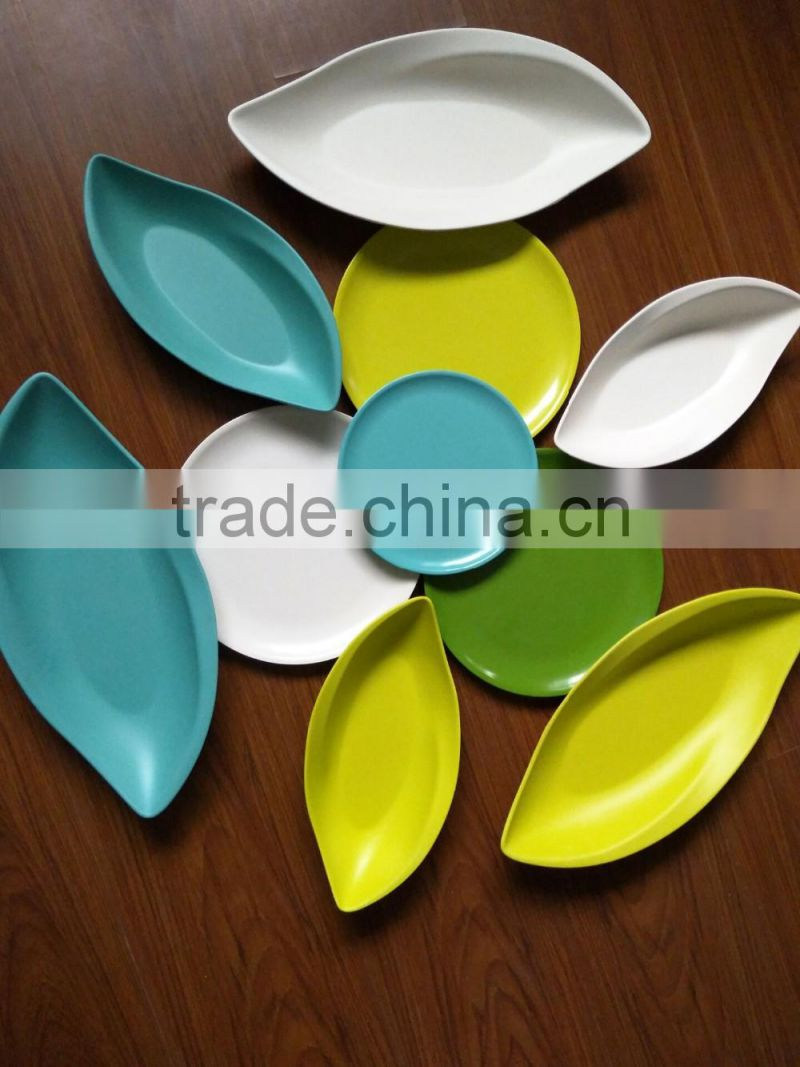 bamboo fiber leaf shapes dinner plates