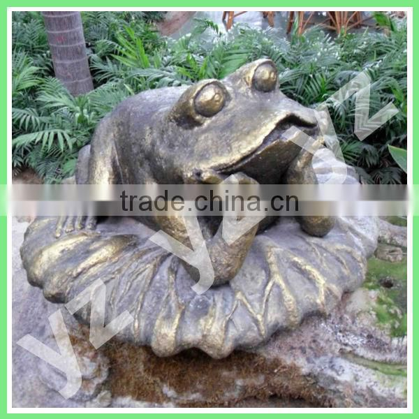 bronze frog outdoor animal sculpture for sale