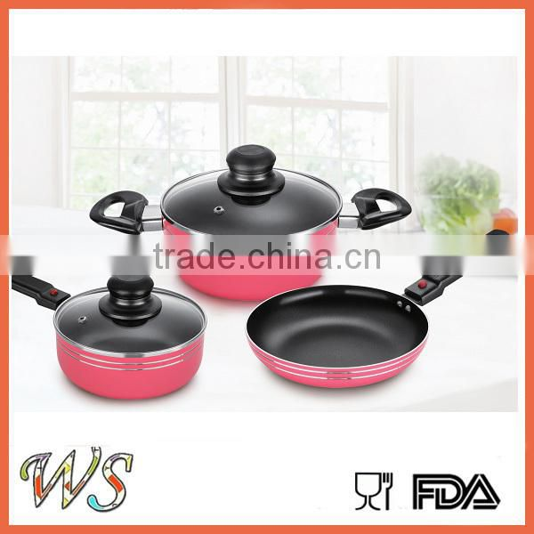 WS-DA242 3 piece non-stick cookware set