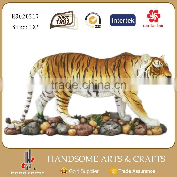 13 Inch Handicraft Product Resin Tiger Statue