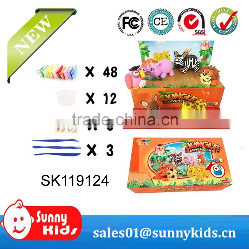 Wholesale 48 colors super light clay DIY modeling clay with tools for kids toy