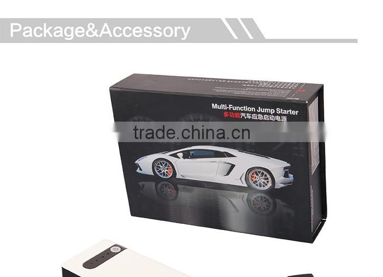 CE Certification rechargeable lipo battery Jump starter with mini Air compressor