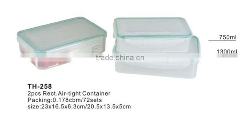 Air-tight container food container plastic container