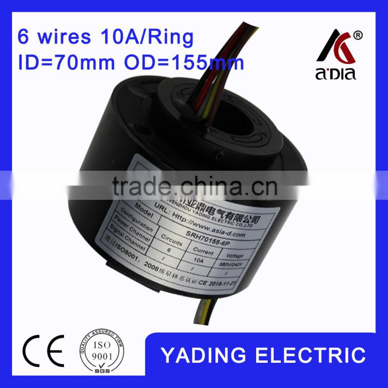 SRH80180- 4S rotary joint slip ring 80 mm. OD180mm. 4Wires,5A x 4 wires