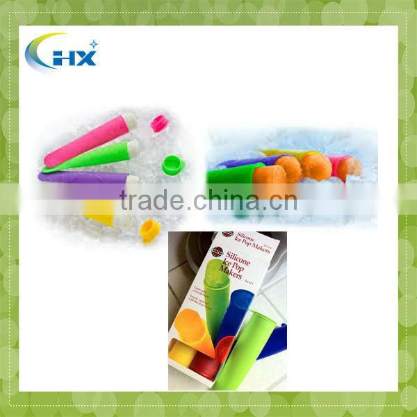 MA-610 FDA Approved Wholesale Custom Silicone Ice Pop Maker Set