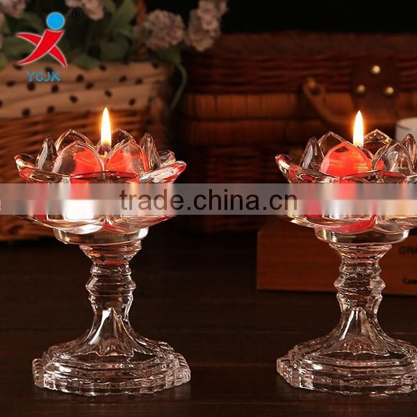 clear transparent butter lamp glass candle holders