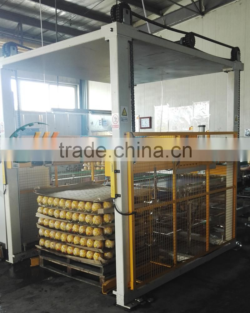 High Quality Automatic Filled Can Palletizer Machine