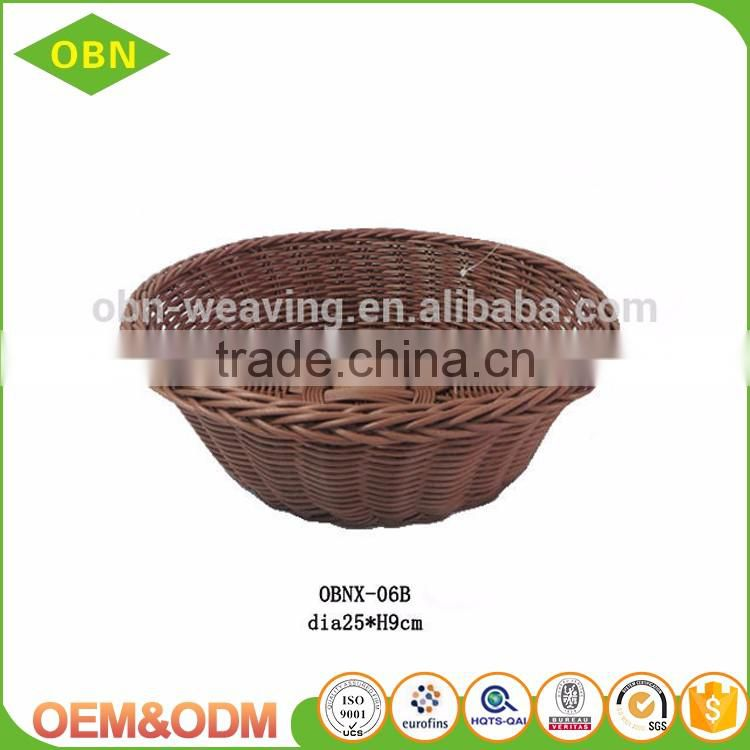 High quality large round clear plastic round rattan trays