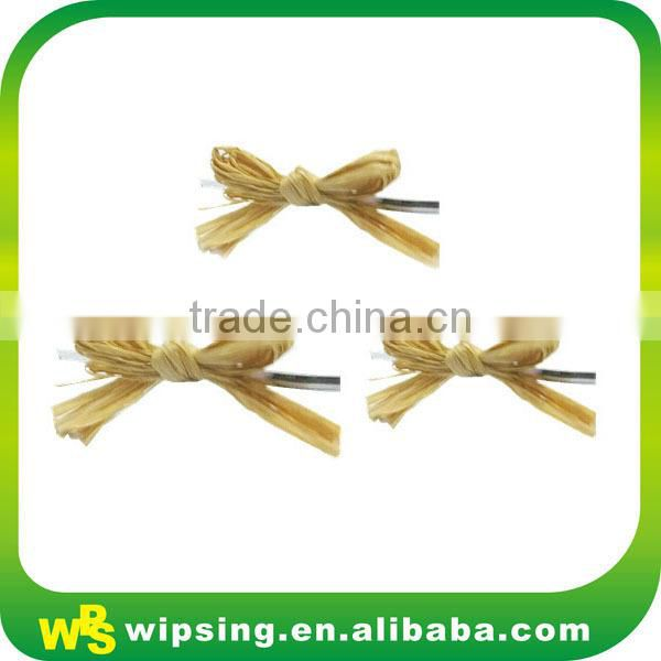 Handmade Natural Raffia Bow With Elastic Loop